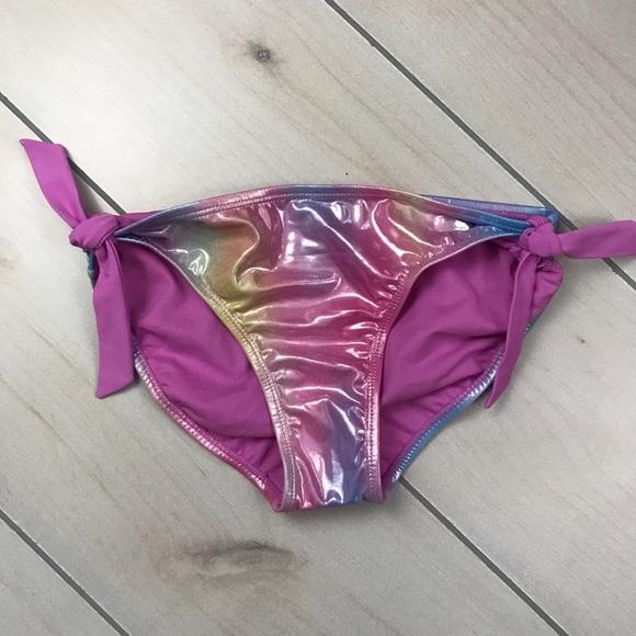 09a3a3e644e NEW Justice Rainbow Mermaid Swim Bikini Bottom